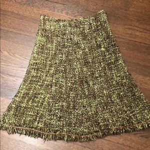 Cynthia Steffe Lined wool knee length skirt